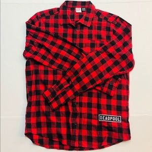 Deadpool men's button down shirt ( medium)